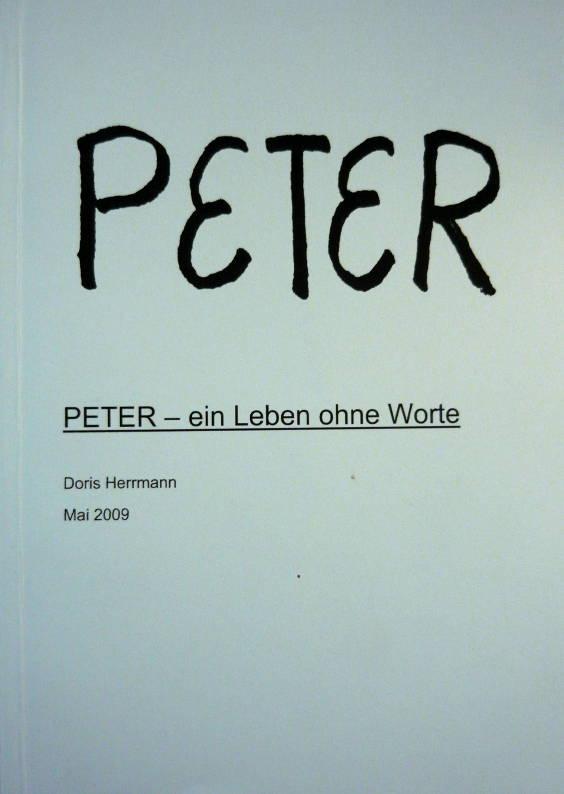 Buchumschlag PETER – EIN LEBEN OHNE WORTE